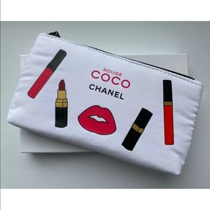 Chanel Beaute COCO Rouge Cosmetic Pouch Bag